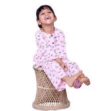 CUTE122 Zebra Print Kurta Nightwear, 3,  pink