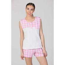 C187- Pink Vest & Shorts, xl,  ffbdf0pink