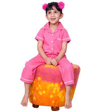 CUTE118- Polka Dots Night Suit, 4,  coral