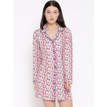 L122 Floral Sleepshirt, s, blue