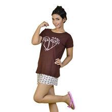 C231 T-shirt & Shorts, l,  brown