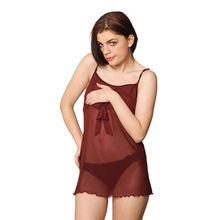 L64- Mix n Match Camisole with Underwear, l,  maroon