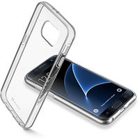 Cellularline Clear Duo Transparent Pouch for Glaxy S7