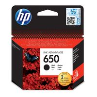 HP 650 Black Original Ink Advantage Cartridge with HP 650 Tri-color