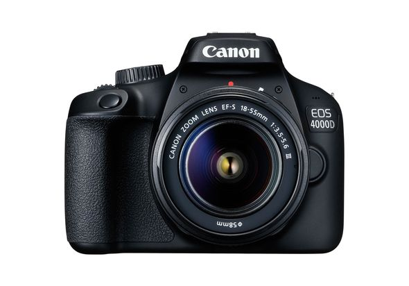 Canon EOS 4000D DSLR Camera and EF-S 18-55 mm f/3.5-5.6 III Lens, Black