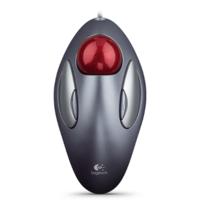 Logitech Trackman Marble USB Mouse, Black