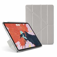 Pipetto Ultra Slim Origami Smart Case for iPad Pro 11 (2018),  Silver & Clear