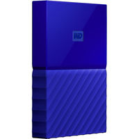 WD 2TB My Passport USB 3.0 Secure Portable Hard Drive, Blue