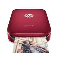 HP Sprocket Photo Printer, Red