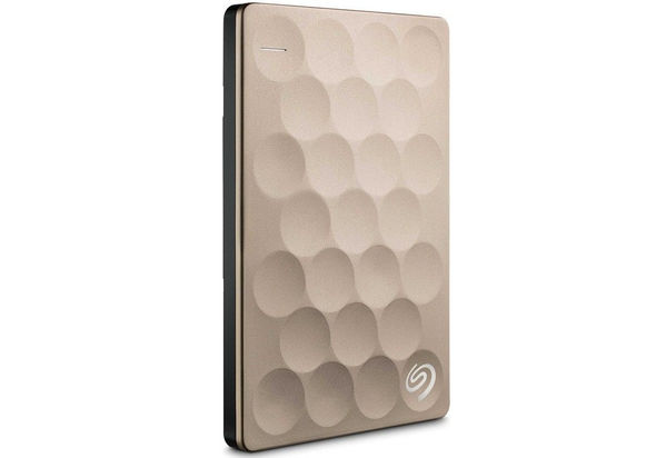 Seagate Backup Plus Ultra Slim 2TB Portable Drive, Gold