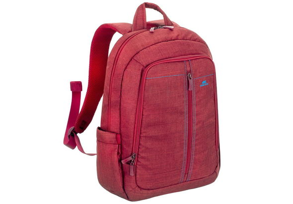 Riva Case 7560 Laptop Canvas Backpack 15.6  , Red