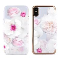 Proporta Ted Baker Nalibise Mirror Folio Case for iPhone X, Chelsea Grey