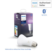 Philips Hue 9W A60 E27 White and Color Ambiance Single Bulb