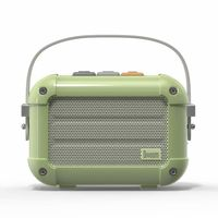 Divoom Macchiato Retro Portable Wireless Bluetooth Speaker, Matcha Green