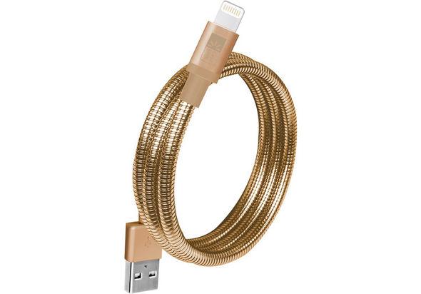 Case Logic Lightning MFI USB Spiral Cable 3.5  , Gold