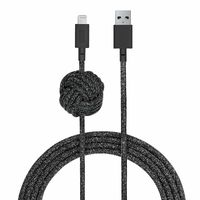 Native Union Night Cable 10ft Ultra-Strong Reinforced Lightning to USB Charging Cable, Cosmos