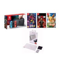 Nintendo Switch Marvel Ultimate Alliance 3, Pokemon, WWE 2K18 and Screen Protector Bundle