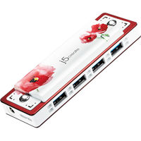 j5create 4-Port USB 3.0 Harmonica Hub, Red