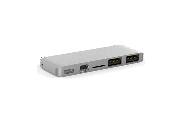 HyperDrive USB-C Hub with Mini DisplayPort, Silver