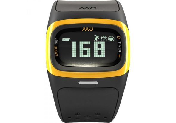 Mio Global ALPHA 2 Heart Rate Sport Watch, Yellow Trim
