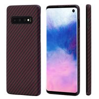 Pitaka MagEZ Case for Samsung Galaxy S10, Black/Red (Twill)