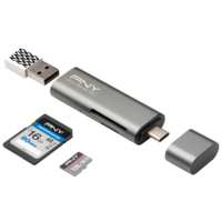 PNY USB-C Card Reader - USB Adapter RTCUA3N1E01RB
