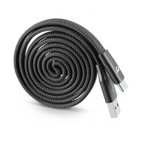 Cellularline Cavo USB RIAVVOLGIBILE TYPE-C Cable, Black
