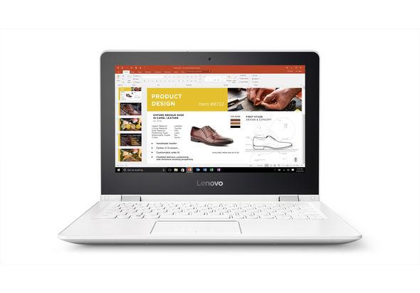 Lenovo Yoga 300 N3060 2G, 32GB 11.6  Laptop, White