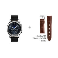 Samsung Gear S3 classic and Gear S3 Alligator Grain Leather Band