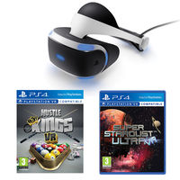 Sony PlayStation VR Headset Hustle Kings and Super Stardust Bundle