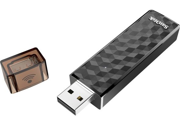 SanDisk Connect 64GB USB 2.0 Type A Wireless Flash Drive, Black