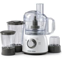 Black & Decker FX400-B5 400W 18 Functions Food Processor, White