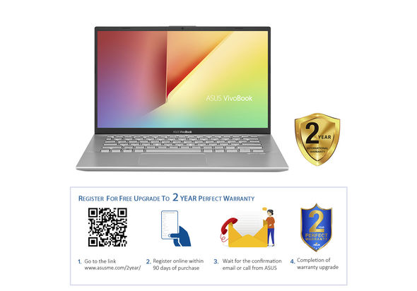 Asus VivoBook 14 A412UF i7 8GB, 1TB+ 128GB 2GB Graphic 14  Laptop, Transparent Silver