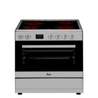 Teka 60cmx60cm Electric Cooker FS 603 4VE SS, Vitroceramic hob with 4 cooking elements, 8 electric oven functions, Stainless stee