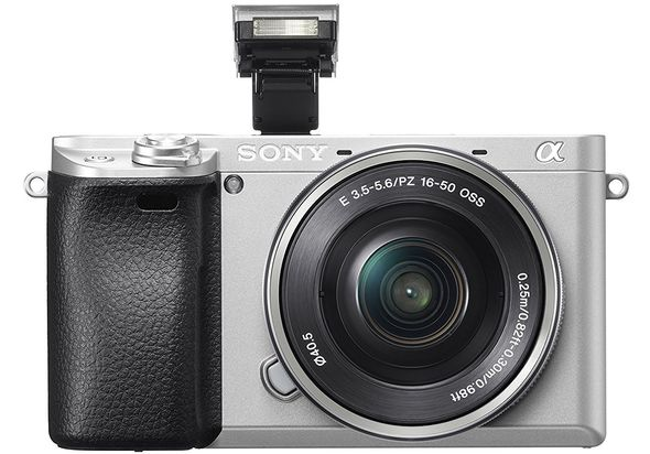 Sony Alpha a6300 Mirrorless Digital Camera with 16-50mm Lens, Silver