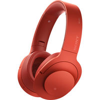 Sony h. ear on Wireless NC Bluetooth Headphones, Cinnabar Red