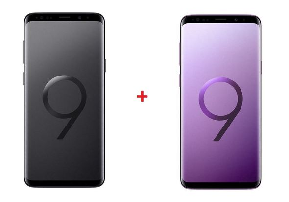 Samsung Galaxy S9+ 64GB Smartphone LTE, Black+ Purple