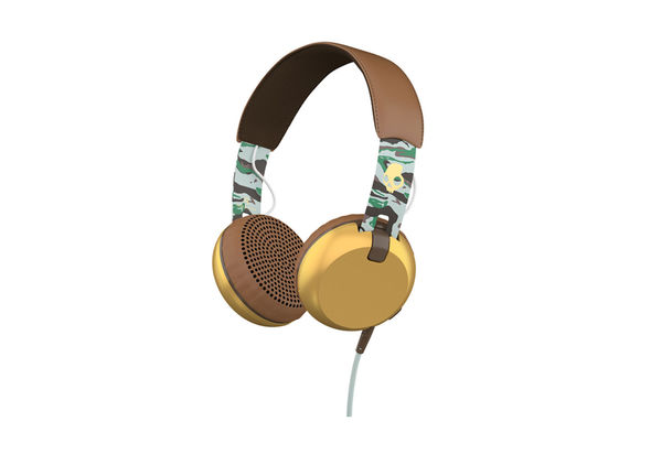 Skullcandy Grind Headphones with Single-Button TapTech and Mic, Scout Camo/Gold