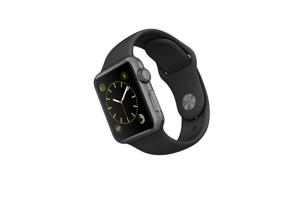 Apple Watch Sport, 38mm Space Gray Aluminum Case with Black Sport Band