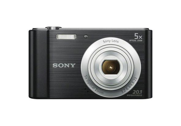 Sony DSCW800 Digital Compact Camera, Black,  silver