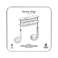 Happy Plugs Wireless II Wireless Headphones, White Marble