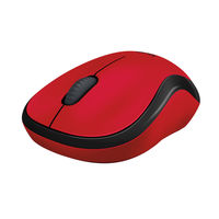 Logitech M220 Wireless Silent Mouse, Red