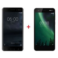 Nokia 6 64GB Black+ Nokia 2 Black