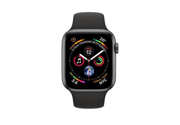 Apple Watch Series 4 40mm Space Gray Aluminum Case with Black Sport Band