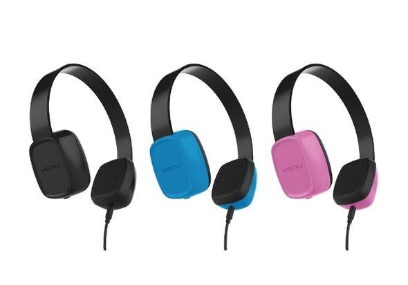 Kenu Groovies Kids Stereo Headphones, Pink