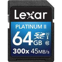 Lexar 64GB SDXC 300X Premium II Memory Card (Class 10) U1