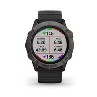 Garmin Fenix 6X Pro Solar Edition Multisport GPS Watch, Grey/Black
