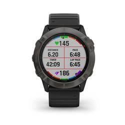 Garmin Fenix 6X Pro Solar Edition Multisport GPS Watch, Grey/Black