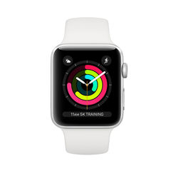Apple Watch Series 3 GPS 42mm Silver Aluminum Case with White Sport Band