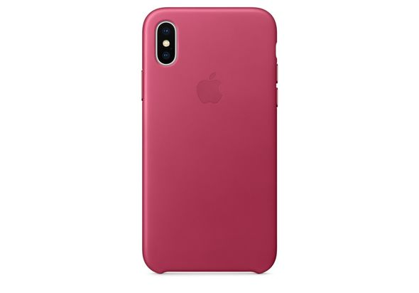Apple iPhone X Leather Case, Pink Fuchsia